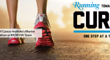 Running towards a cure banner
