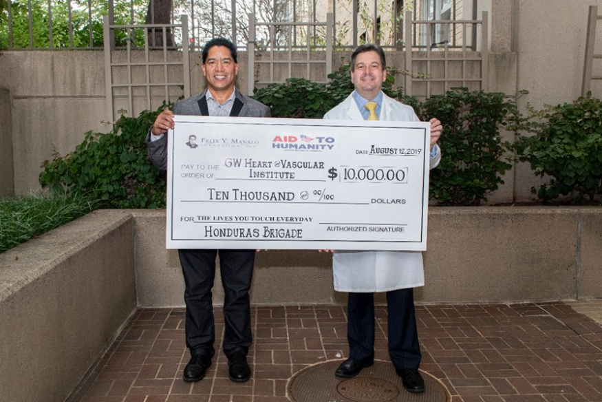 Eli Sevilla and Marco Mercader with Donation from FYM Foundation