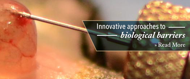 Innovative approaches to biological barriers