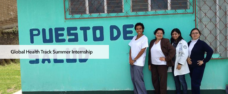 Global Health Track Summer Internship
