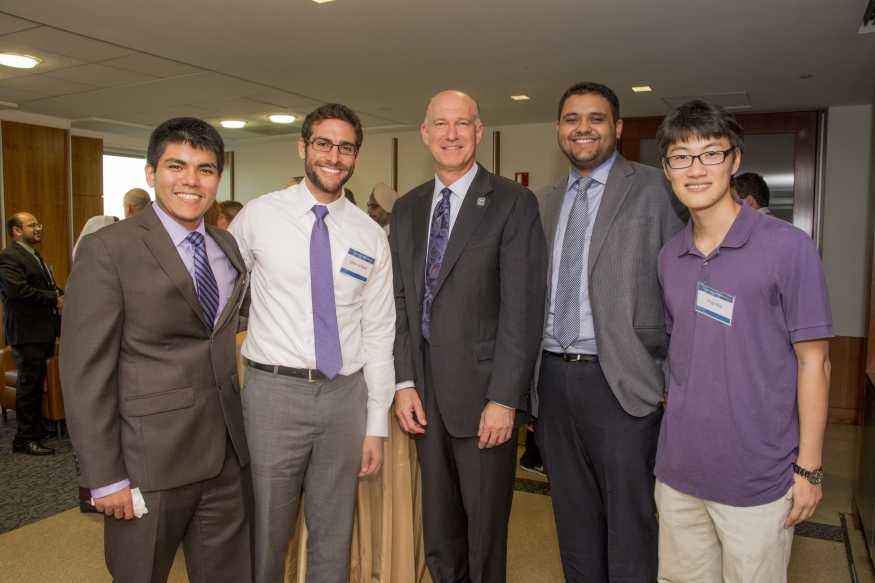 Students with Dean Akman