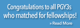 Congrats to all PGy3s who match for fellowships