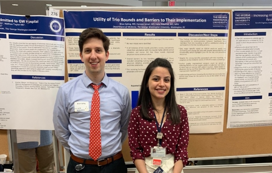Drs Brian Epling & Haneen Ismail present at GW Research Day