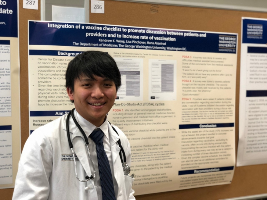 Kendrew presents at GW Research Day