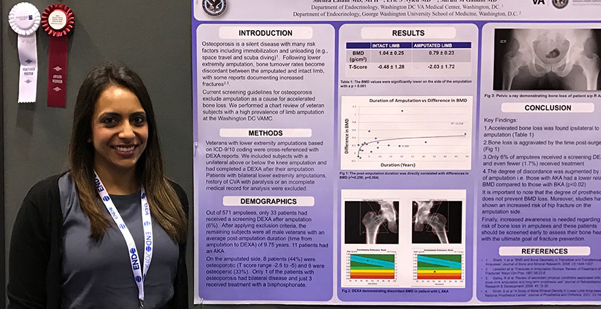 Endocrine fellow with poster