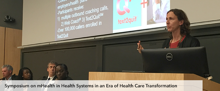 Symposium on mHealth in Health Systems in an era of Health Care Transportation