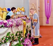 Princess of Thailand conferring Dr. Brindley's honorary degree.