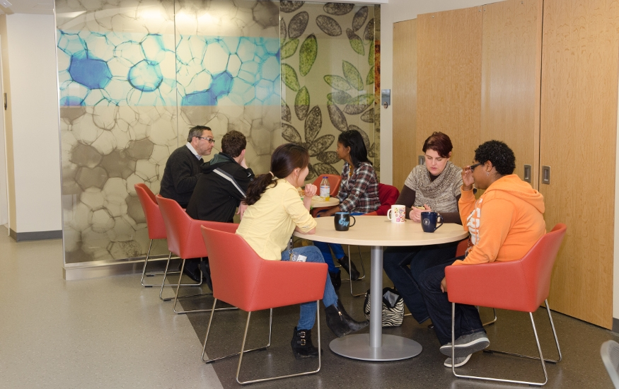 MITM employees enjoying the lunch area