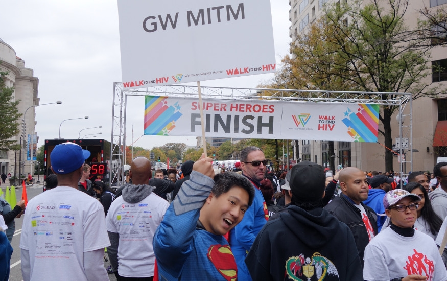 walk to end HIV finish line