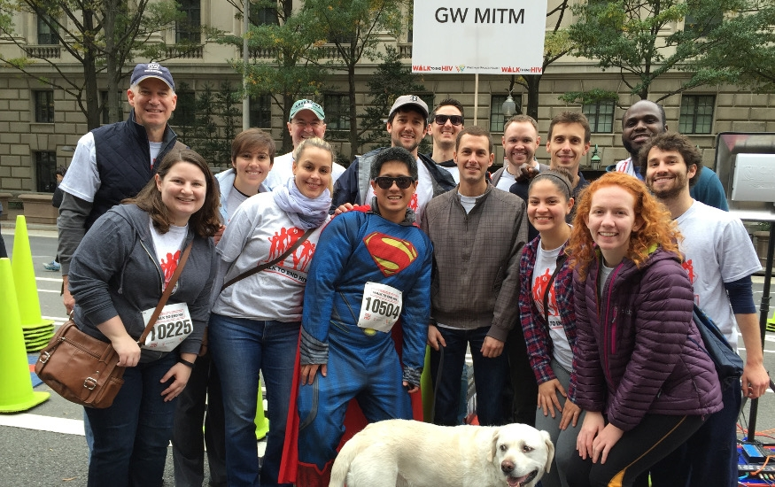 group of attendees at walk to end HIV 2015
