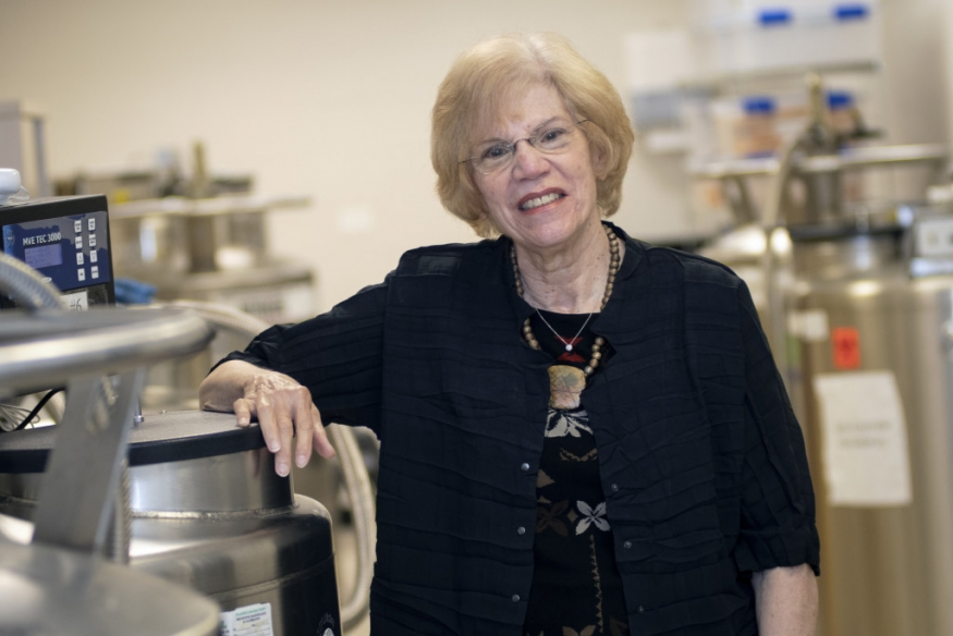 Dr. Silver standing in her lab