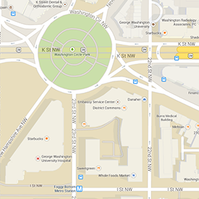 Google Map of Washington Circle