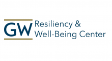 Logo for the GW Resiliency & Well-being Center