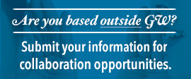 Are you based outside GW? Submit your information for collaboration opportunities
