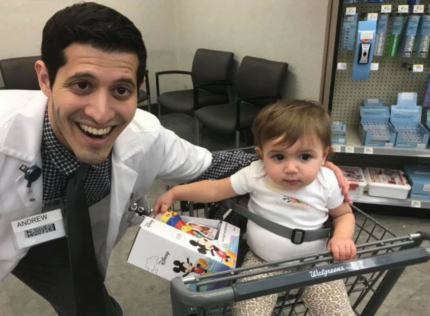 Andrew Garcia with child