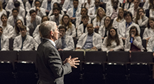 Dr. Fauci talking to MD students at HIV intersession