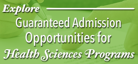 Explore GW's Health Sciences Guaranteed Admission Opportunities