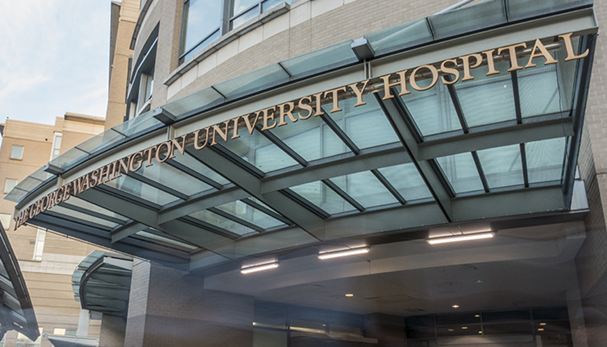 The George Washington University Hospital entrance