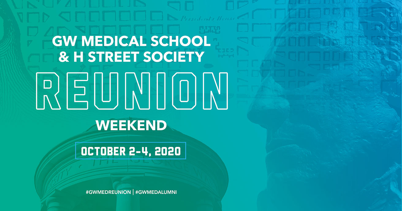 GW SMHS Medical School Reunion Weekend 2020 (Oct. 2-4) banner image