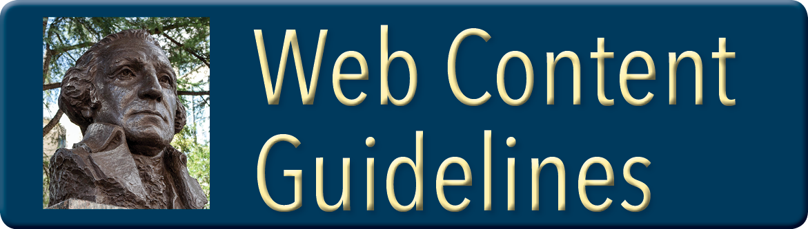 Link to GW Web Content Guidelines
