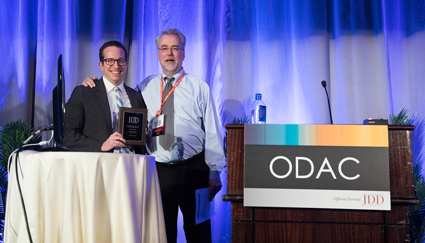 Adam Friedman, MD, received the Innovations in Residency Training Award (photo credit: James Dick)