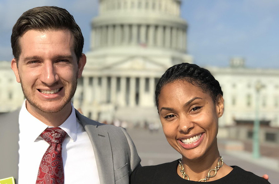 Tatum Little and Bradley Cundif PAEA SHPF by Capitol Hill Building