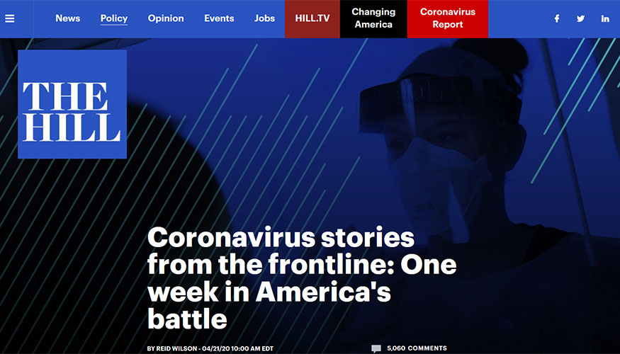 The Hill - Coronavirus Stories From the Frontline: One Week in America's Battle