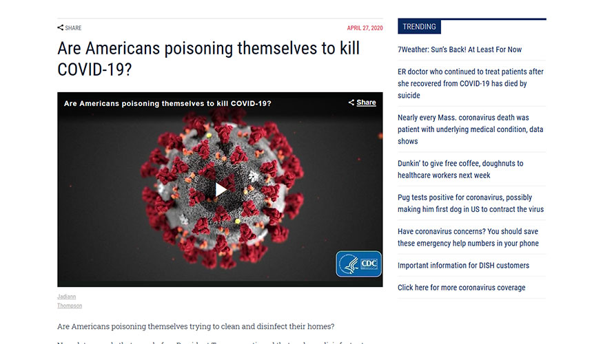 WHDH - Are Americans Poisoning Themselves to Kill COVID-19?