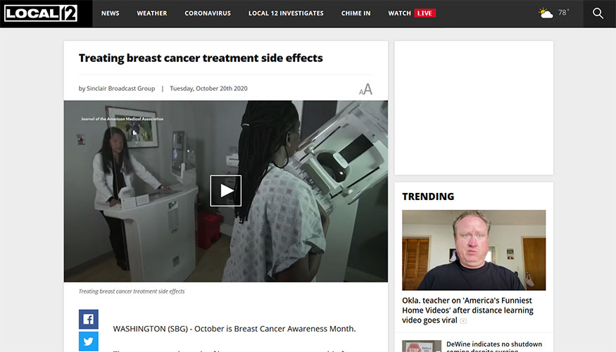 Sinclair Broadcast Group - Treating Breast Cancer Treatment Side Effects