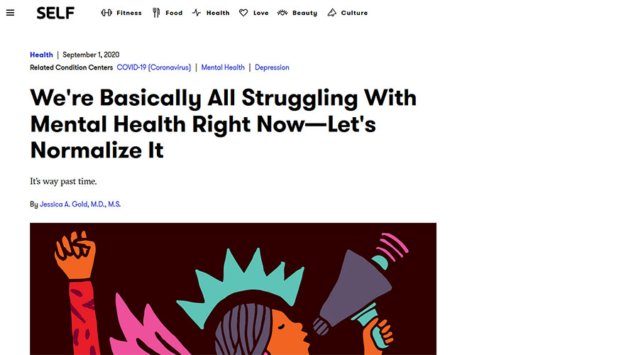 Self -We're Basically All Struggling With Mental Health Right Now—Let's Normalize It