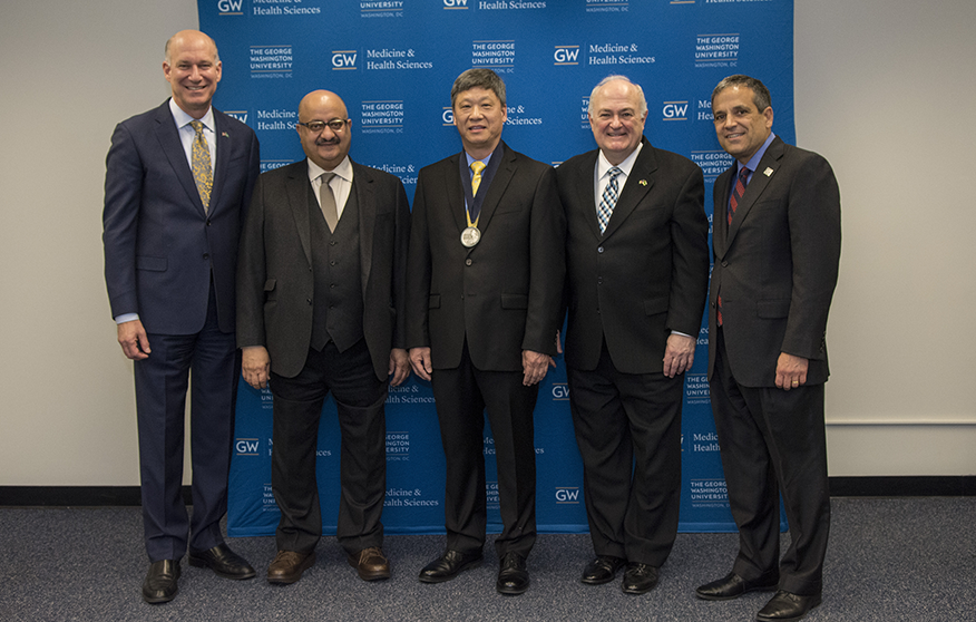 Edward Seto Installed as King Fahd Professor of Cancer Biology