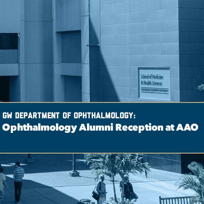 GW Ophthalmology Alumni Reception at AAO Event Banner