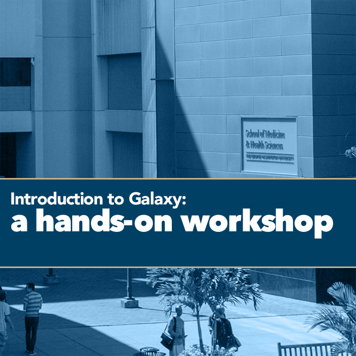 Introduction to Galaxy: a hands-on workshop Event Banner