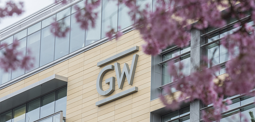 GW logo on building