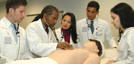 PA students in simulation lab