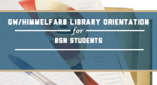 GW/Himmelfarb Library  for BSN Students