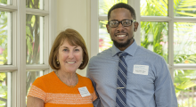Adopt-a-Doc donor, Joanne Crantz, MD '79, and medical student Kurt Isaac-Elder initially met at the 2015 Power and Promise dinner