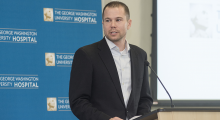 Matt Mika shared his experience as a trauma patient at GW Hospital during Trauma Survivors Day