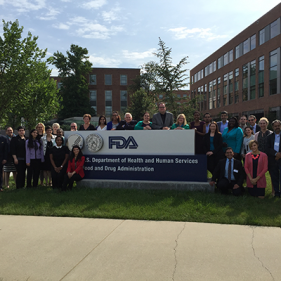 Institute participants at the FDA