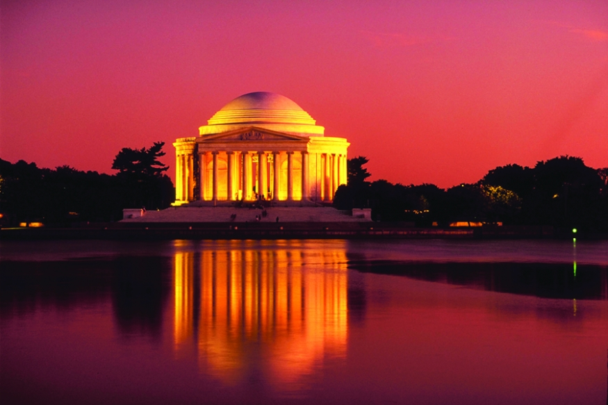 Sunset at Jefferson Memorial