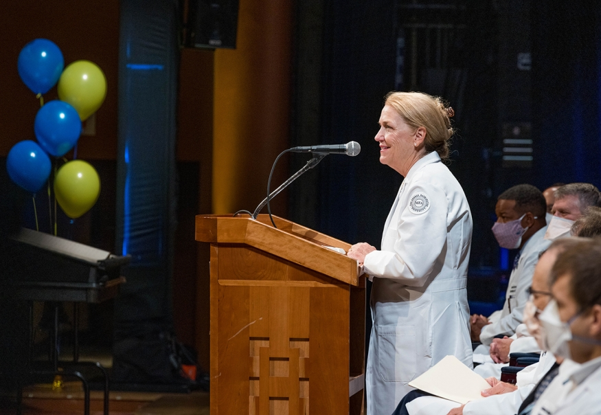 Dean Bass at 2021 White Coat Ceremony