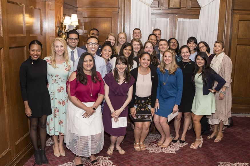 Image of 2018 Gold Humanism Honor Society Inductees and GW Faculty