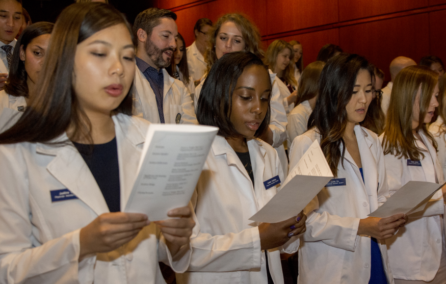 Members of the PA Class of 2019 received their short white coats.