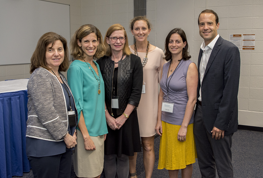 From left to right: Nancy Gaba, MD; Jennifer Keller, MD, MPH; Susan Goff, MD; and Susan Teck's family members.
