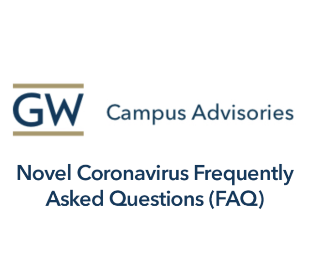 Novel Coronavirus Frequently Asked Questions (FAQ) Graphic