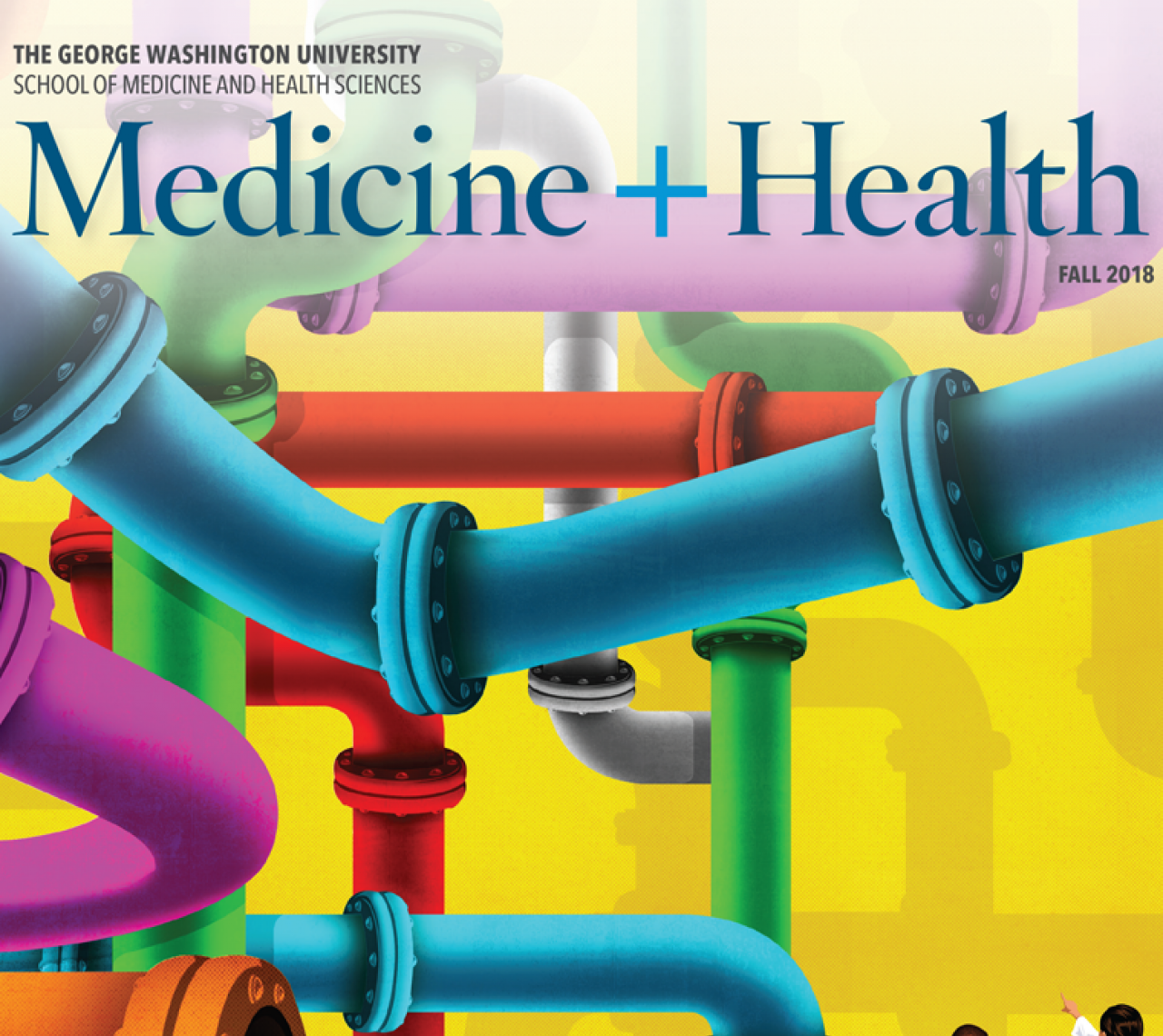 George Washington Medicine and Health Fall 2018 magazine cover