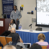 Ibram X. Kendi, PhD, presenting the Dr. Martin Luther King Jr. Lecture