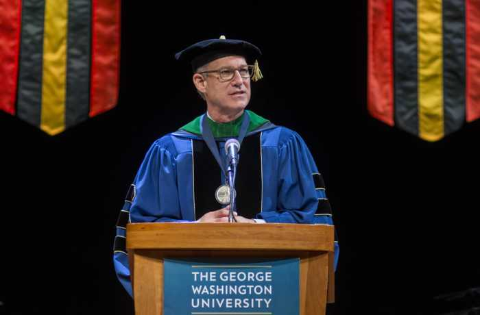 Jeffrey S. Akman, MD '81, RESD '85, in full academic regalia