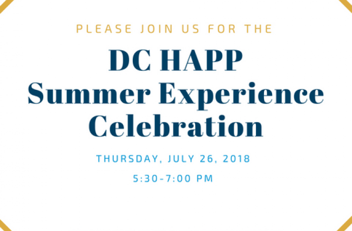 DC HAPP Summer Experience Celebration