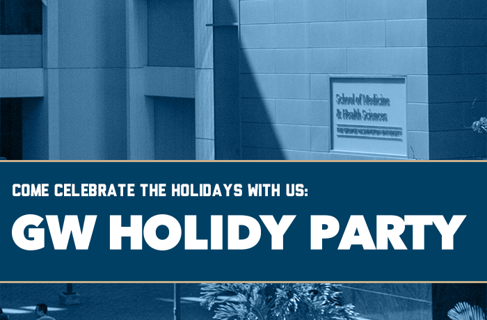 GW Holiday Party Event Banner